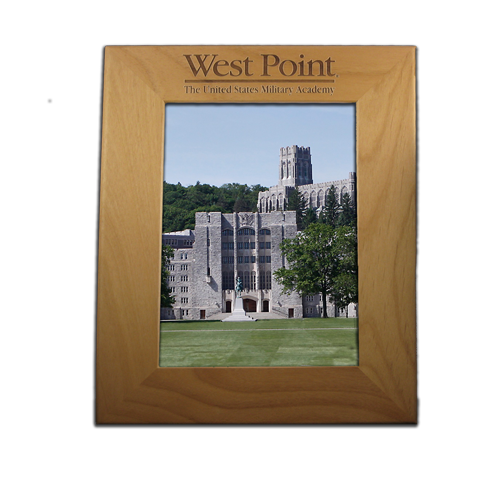 West Point 8x10 Red Alder Picture Frame Gift