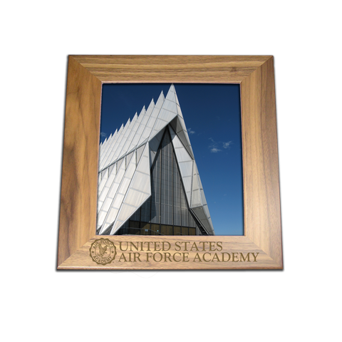 Air Force Academy 8x10 walnut engraved picture frame gift