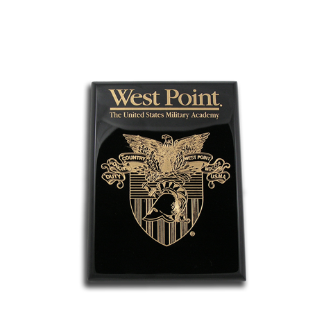 West Point Black Lacquer 6x8 plaque
