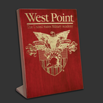 7x9 Free-standing Rosewood West Point Award Plaque