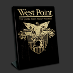 7x9 Free-standing Black West Point Award Plaque
