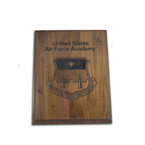 Air Force Academy 5x7 Walnut Plaque