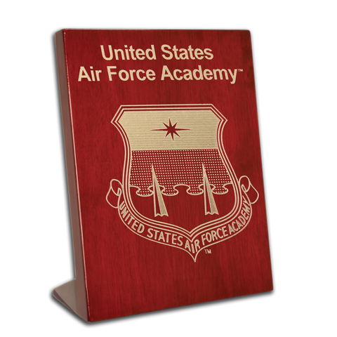 Air Force Academy Rosewood 7x9 stand-up plaque
